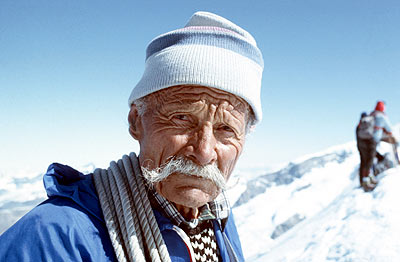 Ulrich Inderbinnen, still a mountain guide until the age of 97, 5 years before he died!