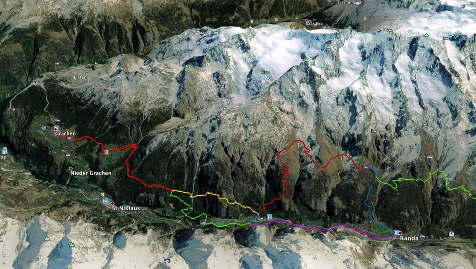 Carte de la nouvelle route europaweg