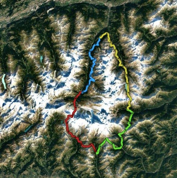 Strecke für Etappenrennen